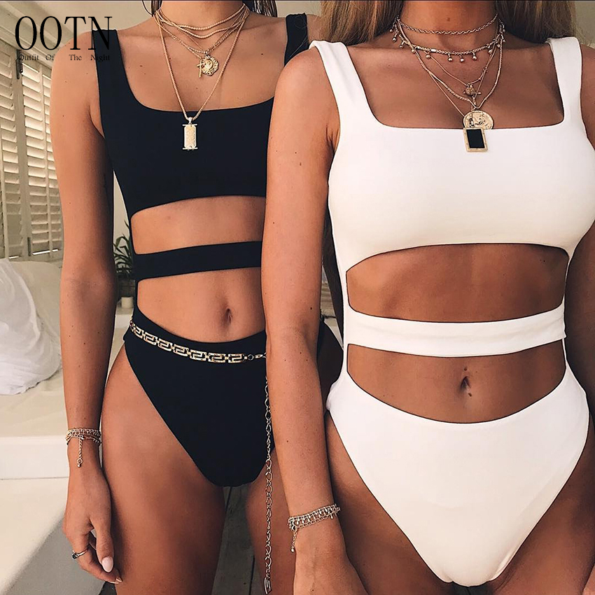OOTN Black Bodysuits Women 2018 Sexy Hollow Out Sleeveless Tank Romper Summer Female White Bodycon Jumpsuit Cotton Overalls