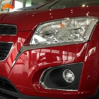 For Chevrolet Trax 2014 2015 2016 ABS Chrome Front Lamp Headlight Eyelid Eyebrow Cover Trim Exterior Decoration auto accessories
