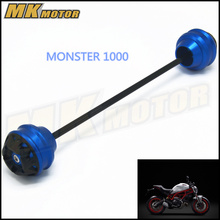 Free shipping For DUCATI MONSTER 1000 2003-2010 CNC Modified Motorcycle Front and rear wheels drop ball / shock absorber