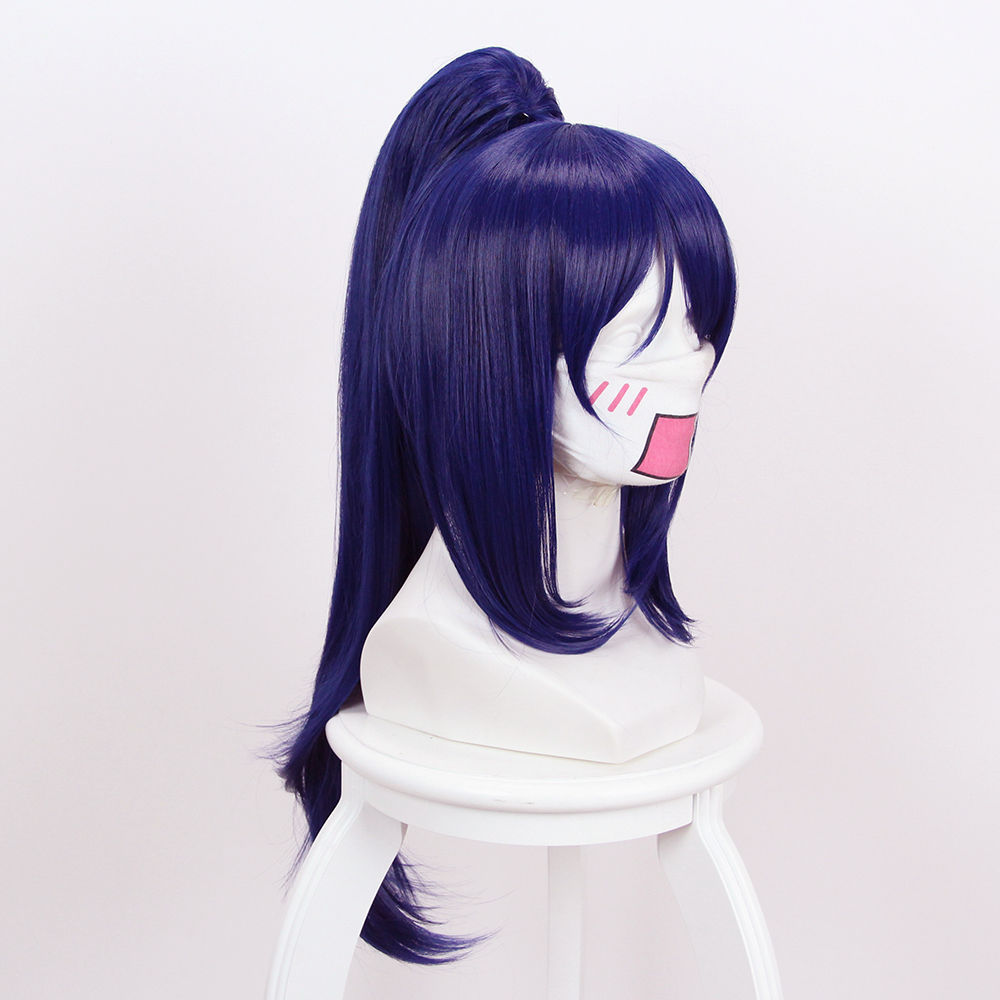 Love Live! Sunshine! Aqours Matsuura kanan Wigs Long Clip Ponytail Sythentic Hair Cosplay Wig+ Wig Cap