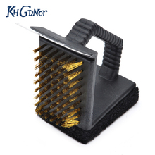cooper wire bbq grill brush triple barbecue grill cleaning brush grill oven cleaner bbq cooking gadget