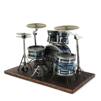 DIY 3D Metal Puzzle Model Musical Instruments Drum Set Guitar Jigsaw Assembly Creative Gift Educational Toys