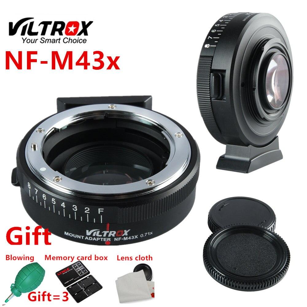 Viltrox NF-M43X Focal Réducteur Vitesse Booster Adaptateur Turbo w/Ouverture pour Nikon Lens pour M4/3 caméra GH4 GH5GK GH85GK EM10II