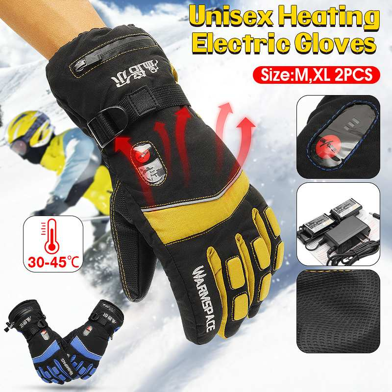 Rechargeable Electric Gloves Heated Li Battery For Motorcycle Riding Snowboarding Skiing Ski Warm Winter Gloves