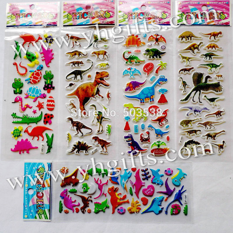 30sheets 720PCS stickers LOT PVC removable jurassic dinosaur stickers Birthday gifts Scrapbooking kit Classic toys DIY