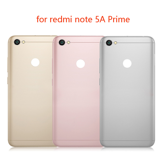 super popular 429b7 6fd50 US $7.3  For Xiaomi redmi Note 5A Rear Back Cover Battery Door Housing  Replacement For redmi note 5A Prime Battery cover +Side Key-in Mobile Phone  ...