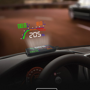 Image 5 - GEYUREN A100s T100 OBD car hud head up head up display 2019 temperature gauge obd Overspeed Warning System Projector Windshield