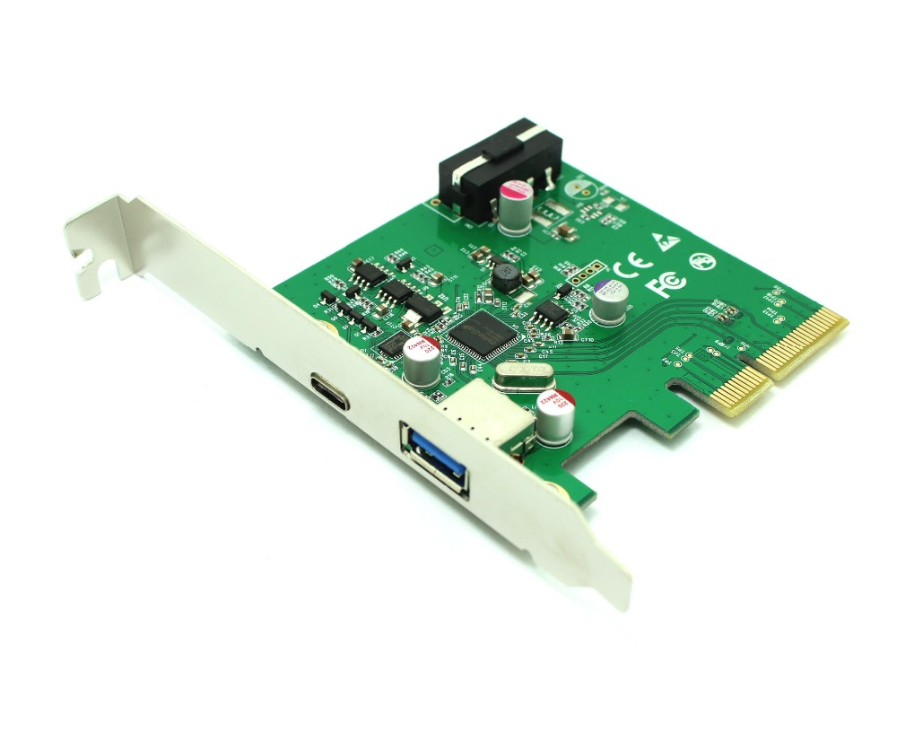 PCIe card super speed USB3.1 10Gbps PCI Express 4 Host Adapter Card/Dual With One Type C and One Type A Support UASP desktop