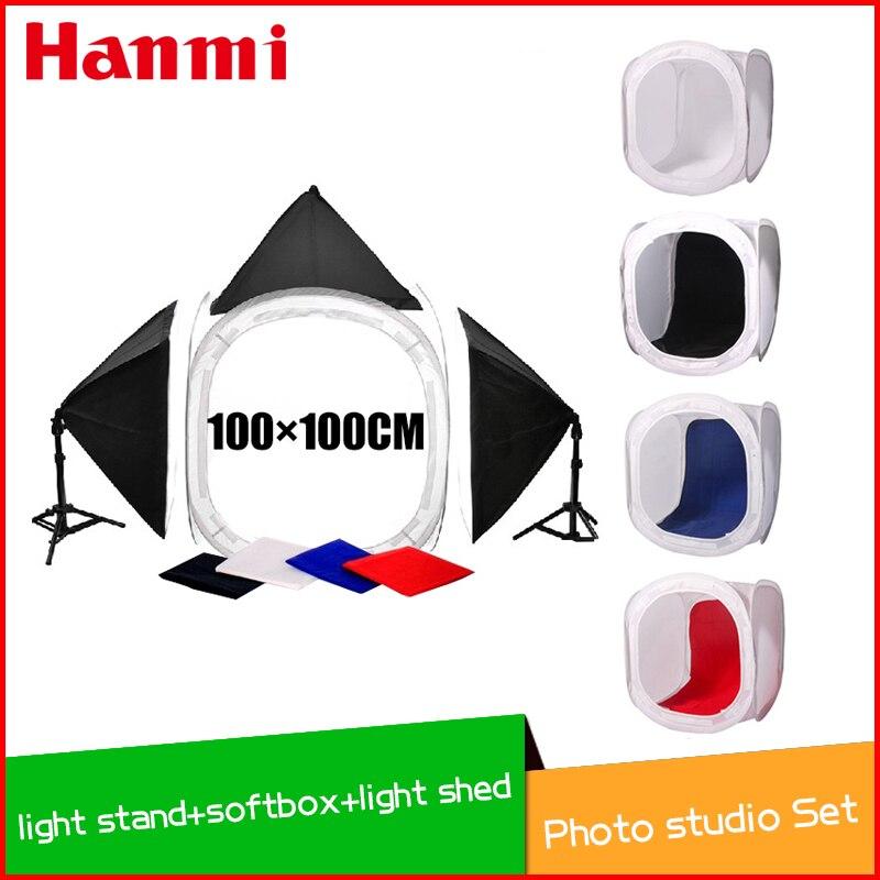 bilder für Freies verschiffen + Kommerziellen fotografie gesetzt, 2 stücke licht stehen, 3 stücke softbox, 1 stücke 100 cm licht schuppen, Fotostudio set