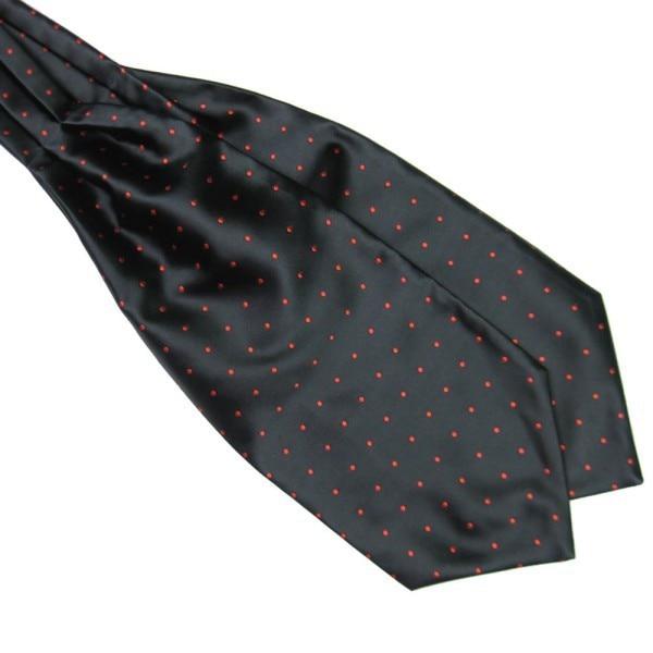 Men Polka Dot Long Silk Ties  Cravat Ascot Handkerchief Gentlemen FOR Drop Shipping 5