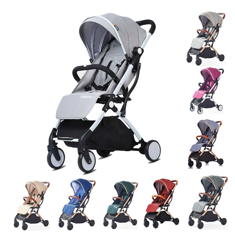Babyyoya Lightweight Portable Folding Tianrui Baby Stroller Can sit can lie One key operation Small and