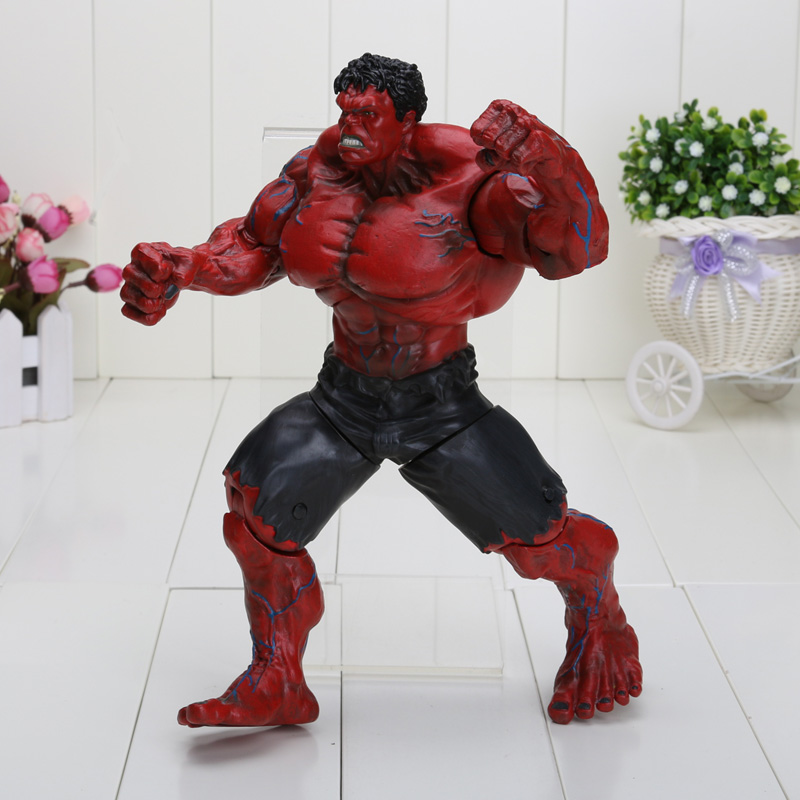 Red Hulk 10 26cm Action Figure The Avengers PVC Figure Toy Hands Adjusted movie super hero the hulk pvc action figure toy 25cm red hulk green hulk figures toys free shipping