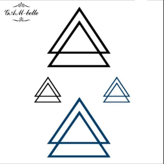 Tattoo Berechnen : dreieck tattoo aufkleber wasserdichte doppeldreiecks logo tattoo aufkleber kleine frische ~ Themetempest.com Abrechnung