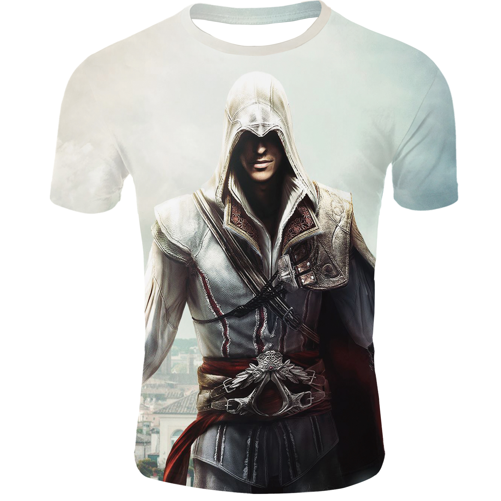 Summer New Assassin Creed 3d   T   ShirtPrinted Men Custom TshirtHip Hop Anime Clothes Mens   T     Shirt