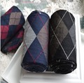 Japanese college wind hit color square diamond green velvet Pantyhose Stockings female