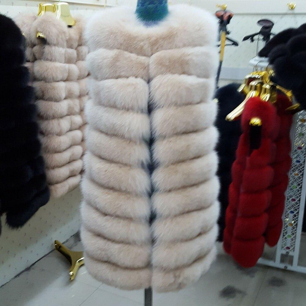 Vraie D'hiver Femme Fourrure Vestes Fox Livraison Véritable Manteaux La Manteau 90 Cm the Femelle Mode Color Renard Gilet Réel De The Picture Color Long tqS7xIcwdT