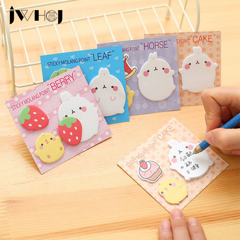 4 pcs/lot kawaii Potatoes rabbit memo pad paper sticky notes post notepad stationery papeleria school supplies