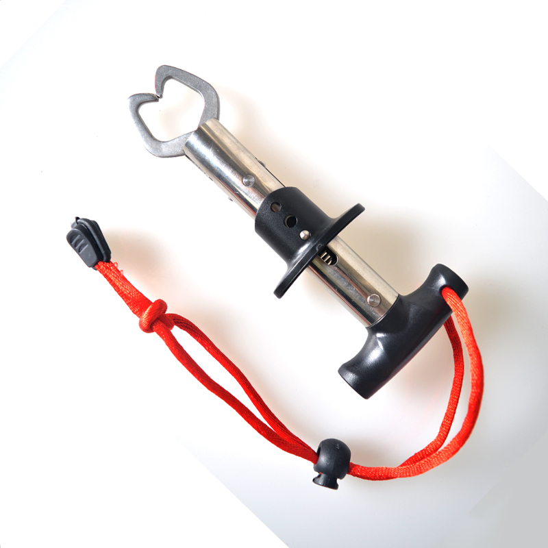 T-muotoinen kahva ruostumattomasta teräksestä kalastuksen huulipuristin Kalastustyökalu helppo kuljettaa kevyellä 15,7cm 107G
