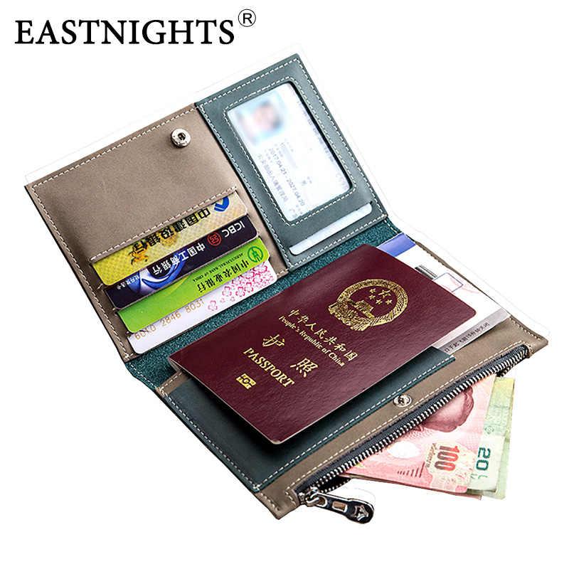 Eastnight passeport couverture cuir femmes voyage passeport titulaire pilote permis sac certificat Case hommes crédit porte-carte TW2718