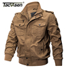 TACVASEN Men Military Jacket Autumn Winter Cotton Slim Jacket Coat Army Pilot Jacket Men S Air