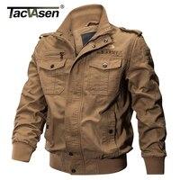 TACVASEN Men Military Jacket Autumn Winter Cotton Slim Jacket Coat Army Pilot Jacket Men S Air