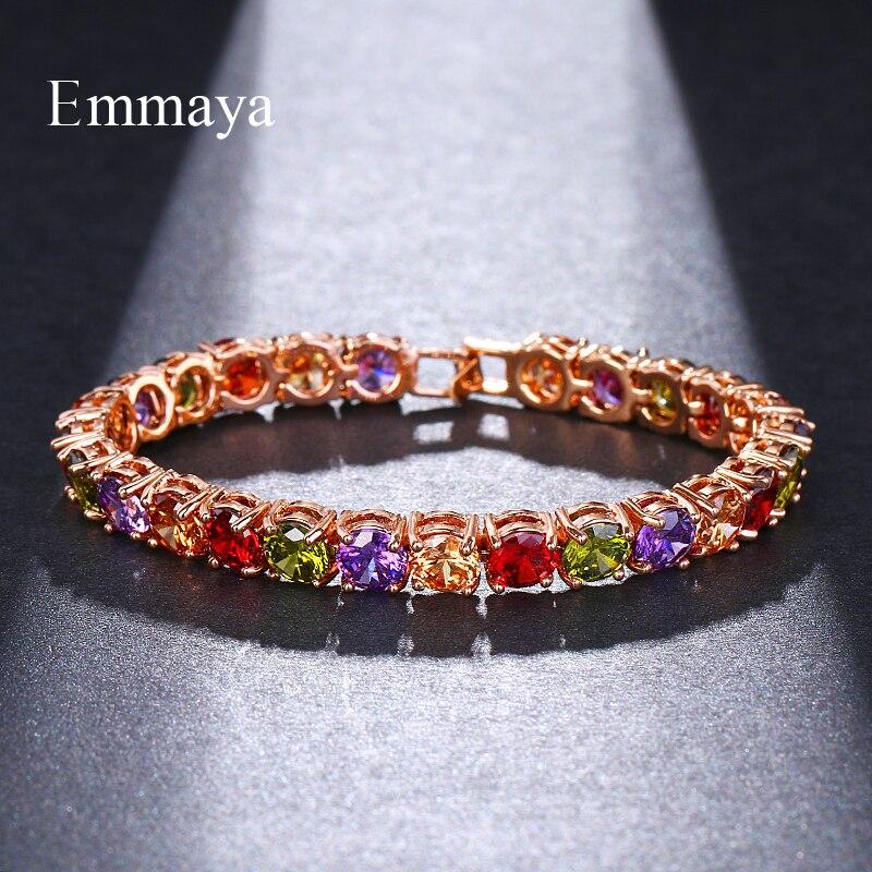 Emmaya многоцветный циркониевый свадебный браслет в римском стиле для невесты и браслеты в стиле хип-хоп ювелирные изделия с вырезами 6,0 мм CZ Т...