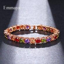 Emmaya-bracelets de mariage multicolores en Zircon Rome, bracelets de mariage, bijoux Hip hop, coupe de Tennis, CZ, 6.0mm, pour femmes/hommes
