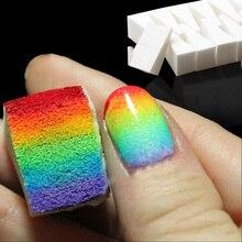 8 pcs Nail Art Gradient Color Stamping Sponge Set Gel Polish Varnish 3D Image DIY Transfer Soft Coloring Stamp Foam Brush Tools