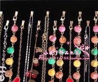 Free Shipping 2pcs 28 Hook Jewelry Display Shelf Jewelry Frame Black Velvet Necklace Display Show Case