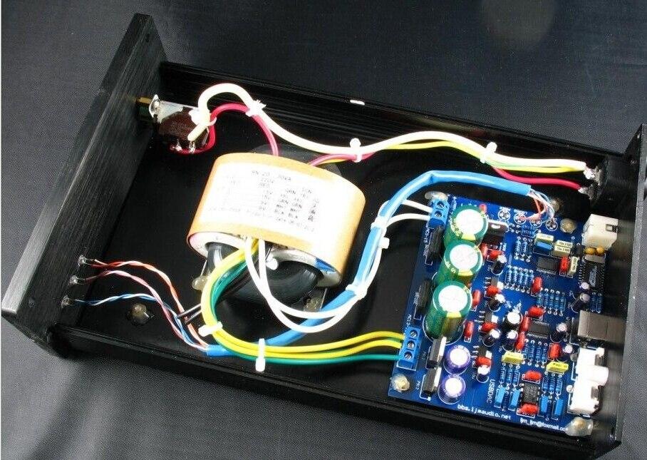 Готовый CS4398+ CS8416 USB ЦАП с трансформатором+ чехол