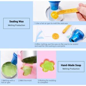 Image 5 - Mini Hot wiatrówka przenośny opalarka dla DIY tłoczenie Shrink Wrapping suszenie farby 300W wielofunkcyjny elektryczne narzędzie ciepła