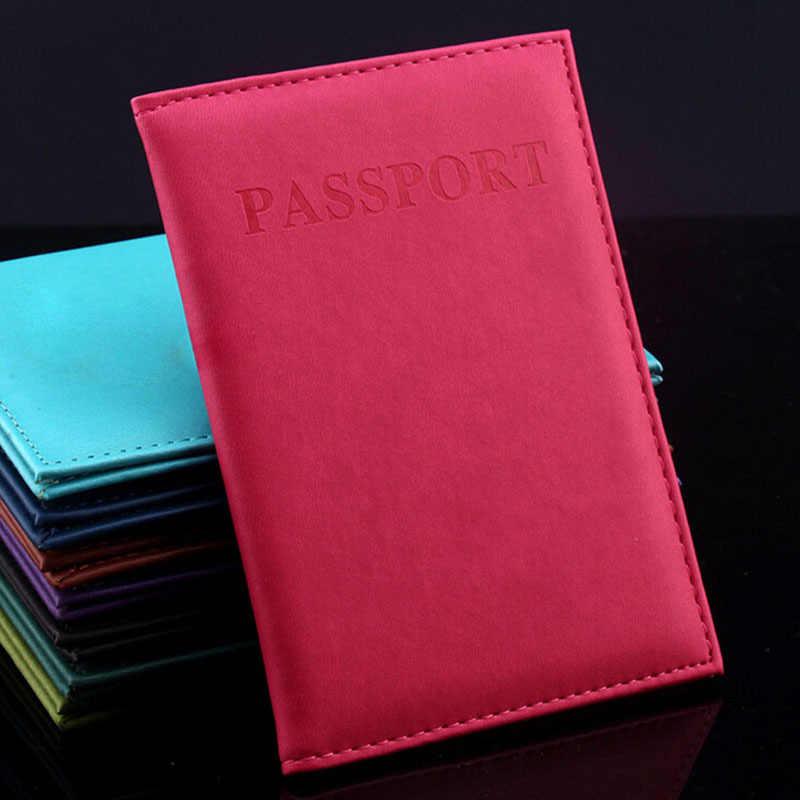 Multi-สีประดิษฐ์ผู้ถือหนังสือเดินทางหนังคู่หนังสือเดินทางหนังสือเดินทางกรณีบัตร Unisex ผู้ถือบัตรคุณภาพสูง