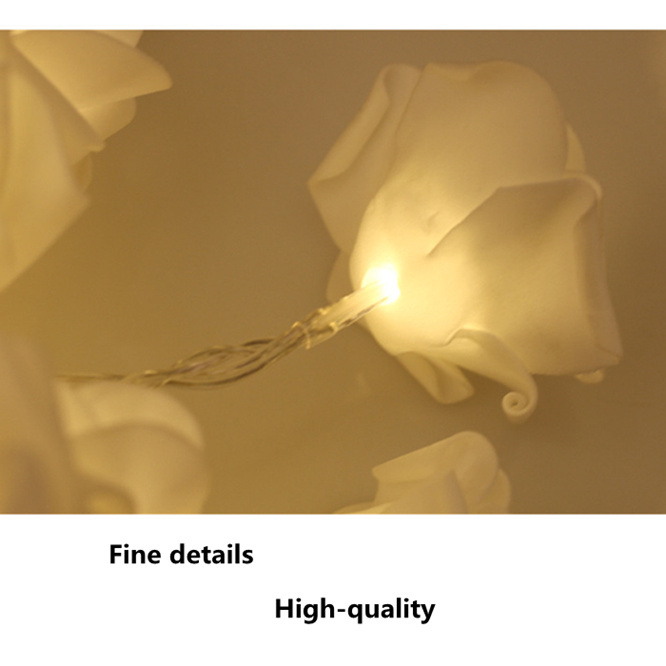 1 2M Battery Operated Floral LED String Lights Flower Fairy Lights Decoration Wedding Valentie 39 s Christmas Lights INS decoration in Lighting Strings from Lights amp Lighting