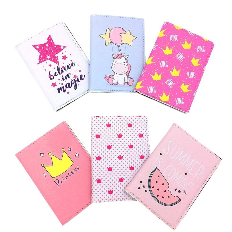 Mcneely Travel Passport Holder Women Passport Cover Wallet Business Card Holder Purse Retro Card Case Kids Small Gift