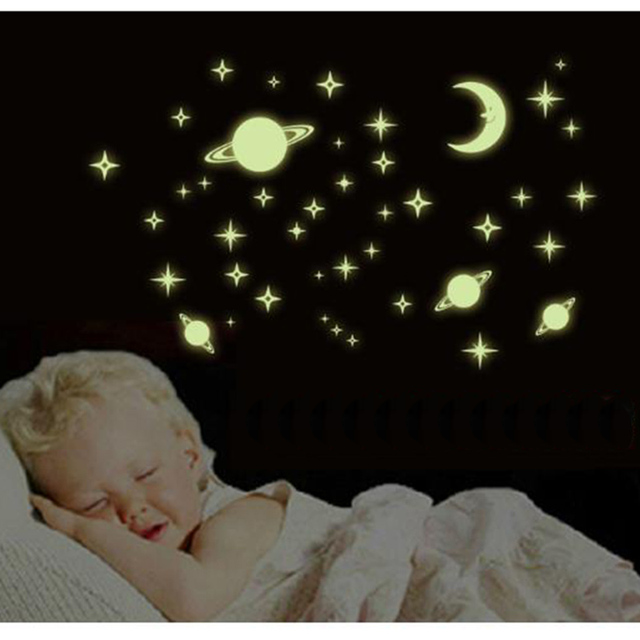 Luminous Wall Stickers, Windows Stickers Fridge Stickers DIY Home Decoration  Kits Baby Room Decoration Shiny