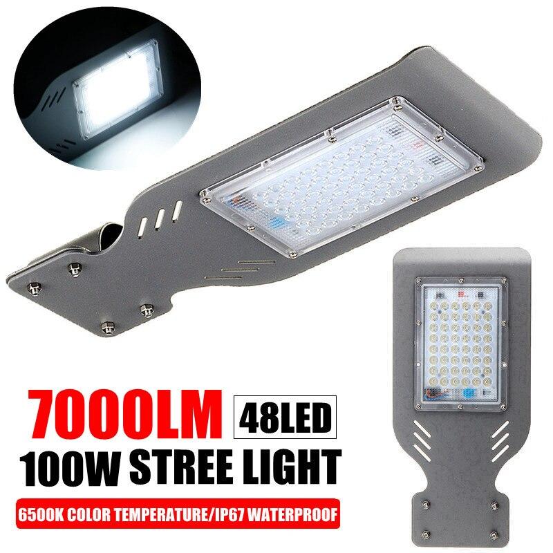AUGIENB 100/200W 14000 Lumen 48/96 LED Street Light Waterproof IP67 Outdoor Garden Yard Wall Highway Parking Lot Lighting Lamp