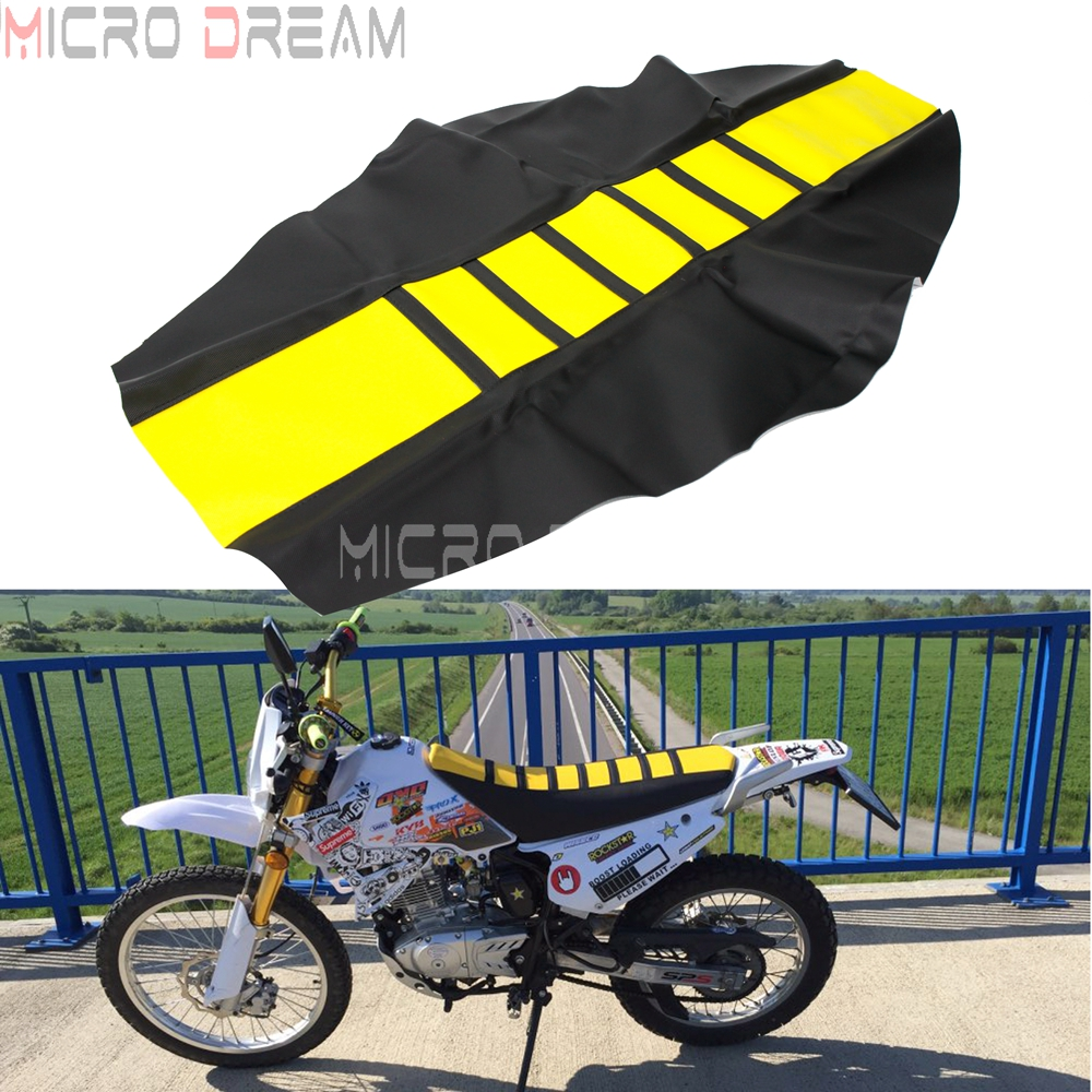 Yellow Motorcycle Rubber Seat Cushion Cover Gripper Soft Sunproof Guard For Yamaha Suzuki DRZ RMX DR RM WRF CRF 85/125/250/450(China)