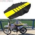 Желтая мотоциклетная резиновая подушка для сиденья  мягкая Солнцезащитная Накладка для Yamaha Suzuki DRZ RMX DR RM WRF CRF 85/125/250/450