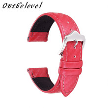 Onthelevel handmade leather strap Genuine Leather Replacement Wrist Strap for Men 22mm replacement wristband 2018 new