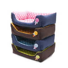 Luxury Kennel House Warm Wave point Fleece Big Size Dog Bed Mat Sofa Pet Cat Bed for Large Dogs Labrador Husky Satsuma Y4