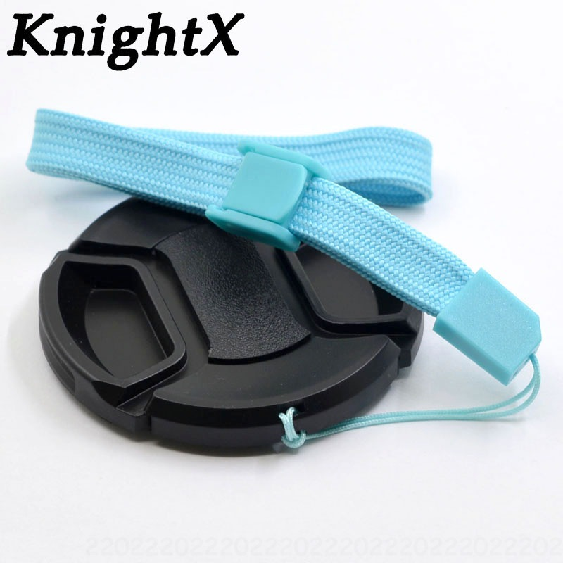 KnightX Center Pinch Lens Cap 49mm 58mm 52mm 67mm 55mm 72mm 77mm for <font><b>canon</b></font> <font><b>accessories</b></font> <font><b>550d</b></font> <font><b>eos</b></font> 1300d 750d nikon d7200 Camera image