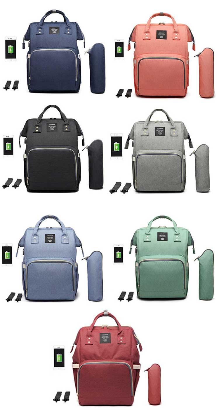 HTB1oq4vPXzqK1RjSZFoq6zfcXXae Lequeen USB Mummy Maternity Nappy Bag Brand Large Capacity Baby Bag Travel Backpack Designer Nursing Bag for Baby Care