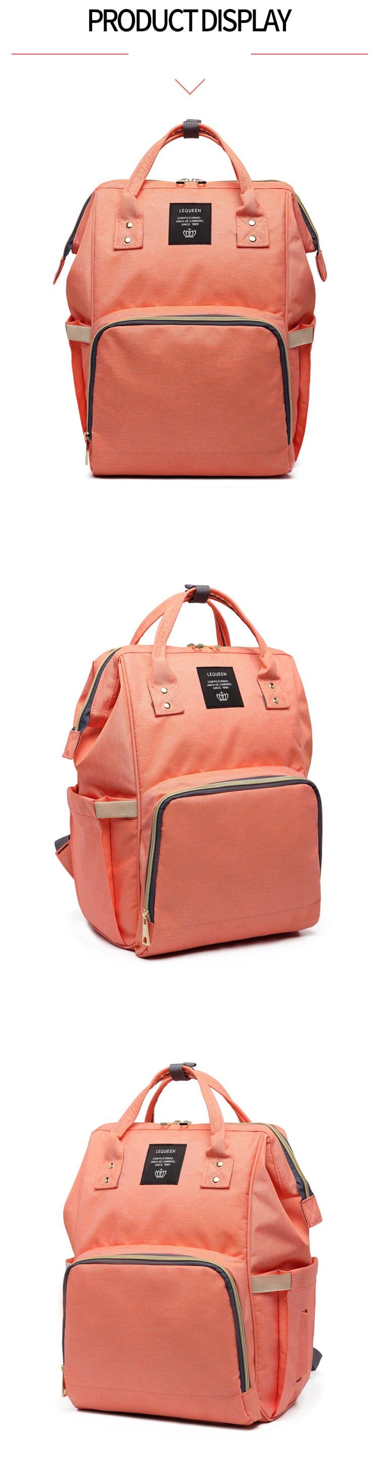 HTB1oq4yKeOSBuNjy0Fdq6zDnVXa9 Lequeen Fashion Mummy Maternity Nappy Bag Large Capacity Nappy Bag Travel Backpack Nursing Bag for Baby Care Women's Fashion Bag