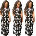 2017 Vestidos de Ropa Africana Tradicional Africana Vestido de Promoción Oferta Especial de Poliéster Robe Africaine de Impresión Ropa de Mujer