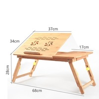 Freya Lazy Bamboo Notebook Comter Desk Folding Notebook Wood Table Tablet Comter Support For Mobile Phone
