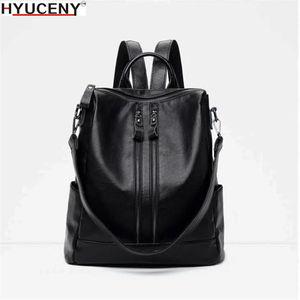 Image 2 - 2018 Yeni Moda kadın sırt çantası Yüksek Kaliteli Gençlik Deri gençler için sırt çantaları Kızlar Kadın Okul omuzdan askili çanta Sırt Çantası mochil