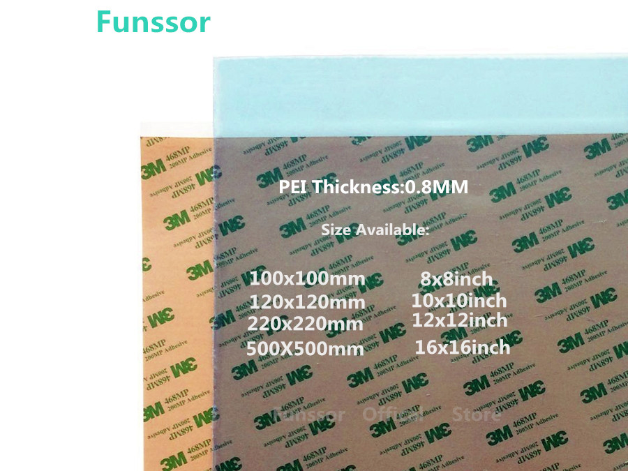 Aliexpress Com Buy Funssor 2pcs 3d Printing Pei Sheet