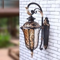 Retro Outdoor Wall Sconce Lighting Balcony LED Wall lamp Waterproof Garden Wall Light Fixtures Metal Glass Porch Lights Lampara