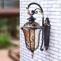 Retro Outdoor Wall Sconce Lighting Balcony LED Wall lamp Waterproof Garden Wall Light Fixtures Metal Glass Porch Lights Lampara