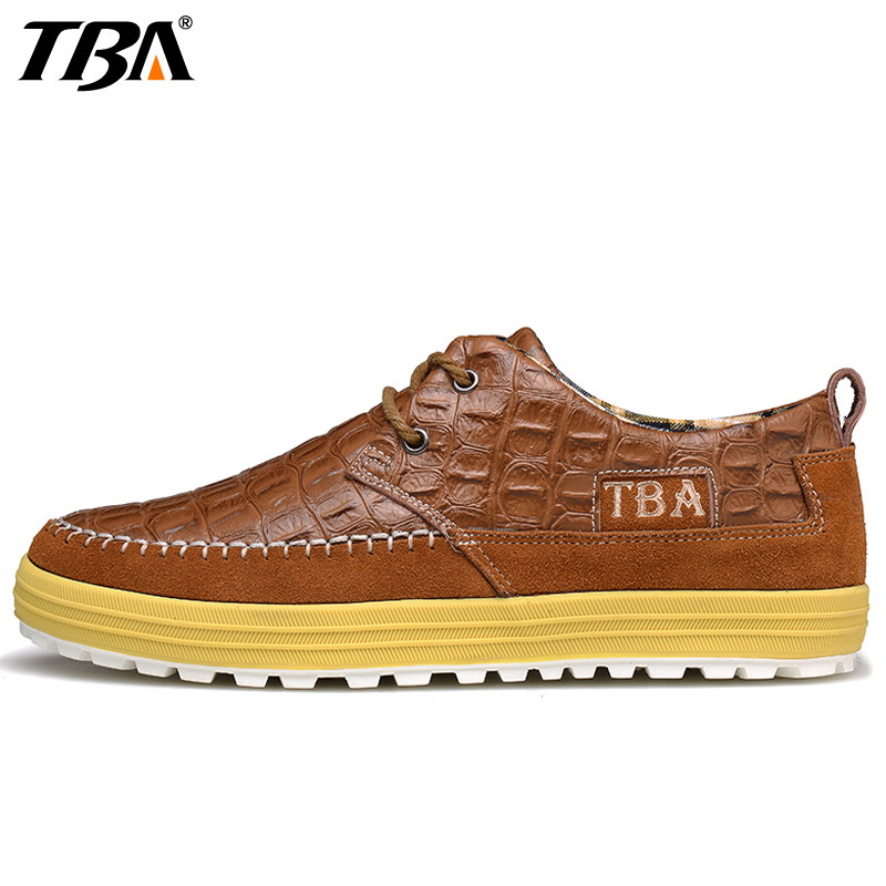 TBA Handmade Walking Shoes For Men Genuine Leather Men's Sneakers 2017 New Spring Breathable Driving Trip Sport Shoes Man Brand